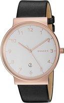 Skagen Men's SKW6322 Ancher Black Leather Watch