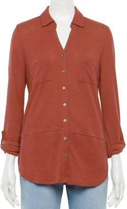 Sonoma Goods For Life Women's Tunic Utility Shirt