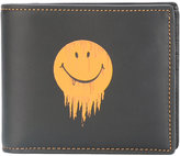 Coach smiley print wallet - men - Leather - One Size