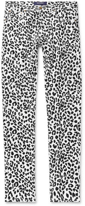 Noon Goons Slim-Fit Leopard-Print Denim Jeans