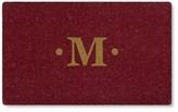Williams-Sonoma Williams Sonoma Inverted Red Monogram Doormat