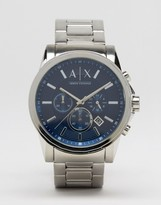 Armani Exchange Chronograph Watch In Stainelss Steel AX2509
