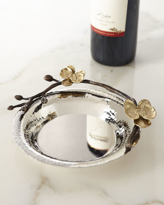 Michael Aram Gold Orchid Wine Coaster