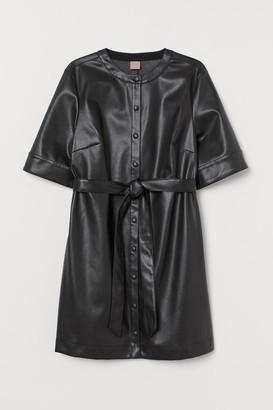 H&M H&M+ Faux Leather Dress - Black