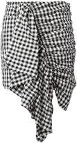 Marques Almeida Marques'almeida - checkered ruffle skirt - women - Polyamide/Polyester - 8