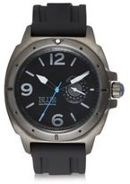 Saks Fifth Avenue Stainless Steel & Silicone Strap Watch