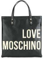 Love Moschino logo square backpack - women - Leather - One Size