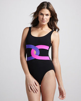Karla Colletto Ribbon-Front One-Piece Swimsuit