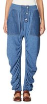 Stella McCartney Dropped-Inseam Denim Jogger Pants, Blue