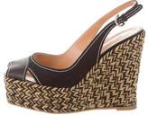 Sergio Rossi Woven Platform Sandals