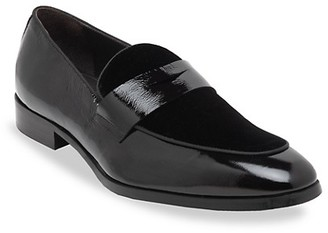 Bruno Magli Juno Patent Leather Velvet Loafers