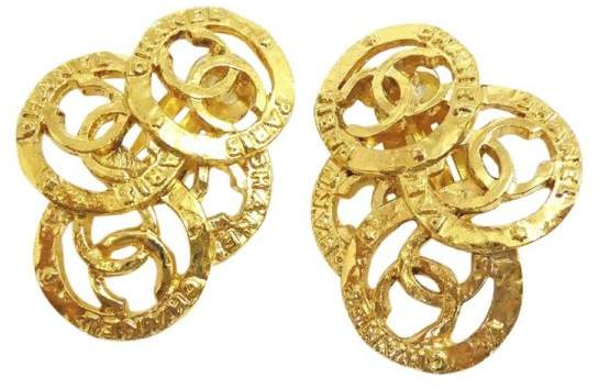 Chanel Gold Tone Hardware Coco Mark CC Logo Clip-On Earrings