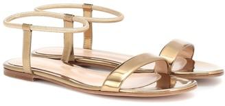 Gianvito Rossi Jaime metallic leather sandals