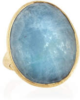 Marco Bicego 18k Gold Oval Aquamarine Ring