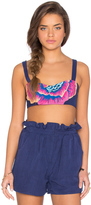 Mara Hoffman Embroidered Bra Top