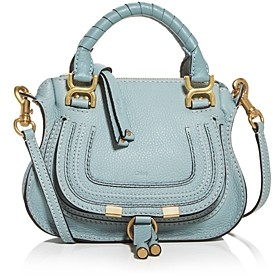 Chloé Marcie Mini Leather Crossbody Satchel