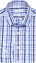 Etro Check And Floral-print Slim-fit Cotton Shirt