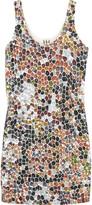 Sequin mosiac tank dress