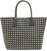 Deux Lux 'St. Lucia' Two Tone Woven Faux Leather Tote