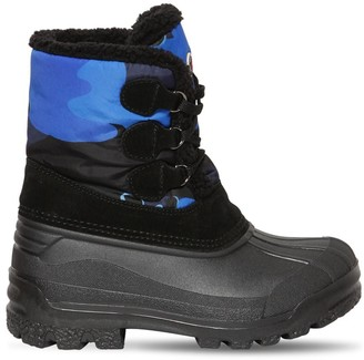 Moncler Christian Rubber Ski Boots W/ Faux Fur