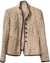 Escada White Tweed Jacket for Women