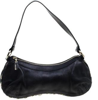 Roberto Cavalli Black Leather Shoulder Bag