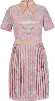 Raoul Amaryliss Pink Printed Pleated Dress