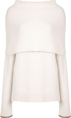 Proenza Schouler Textured Foldover Knit Jumper