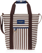 Henri Bendel Signature Stripe Canvas Magazine Tote