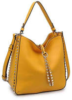 Urban Expressions Studded Mustard Bag