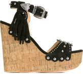 Ash 'Bliss' wedge sandals - women - Cork/Leather/Suede/metal - 38
