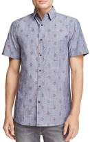 Sovereign Code Chambray Geo Print Regular Fit Button-Down Shirt