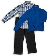 Nautica Boys 2-7 Sportshirt, Half-Zip Sweater and Jeans Set