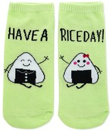 Forever 21 FOREVER 21+ Have A Rice Day Graphic Socks