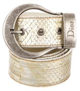 Christian Dior Metallic Snakeskin Belt
