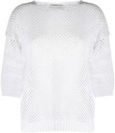 D-Exterior D.Exterior knitted net jumper
