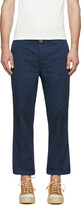 Visvim Navy High Water Chino Trousers