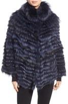 La Fiorentina Women's Genuine Silver Fox Fur Shawl