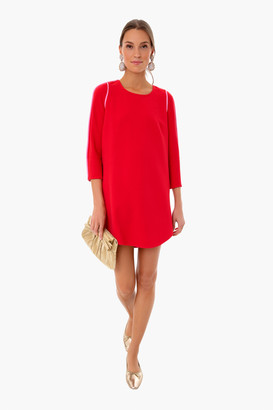 French Rose Seamed Shift Dress