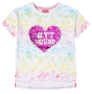 George Hearts By Tiana White Swipe Sequin T-Shirt