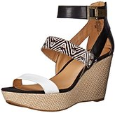 Nine West Women's Enlighten Leather Wedge Sandal