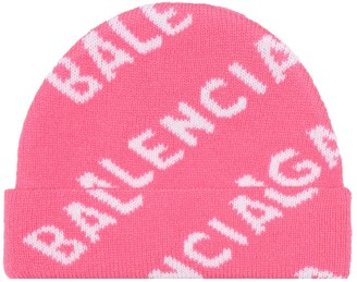 Balenciaga Intarsia wool beanie
