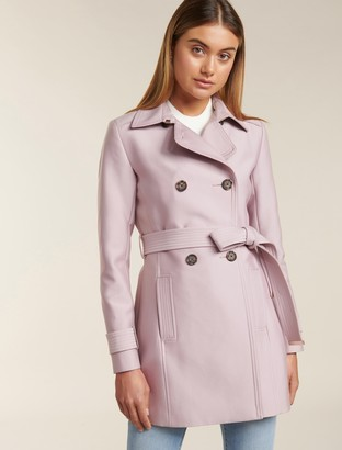 Forever New Helana Petite Trench Coat - Soft Pink - 14