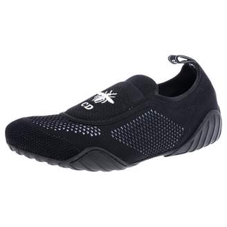 Christian Dior D-Fence Black Leather Trainers