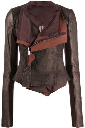 Rick Owens Wrap Front Leather Jacket