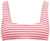 Solid & Striped The Elle Striped Ribbed-jersey Bikini Top - Womens - Pink Stripe