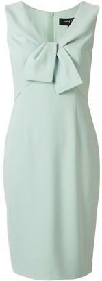 Paule Ka Bow Detail Sleeveless Dress