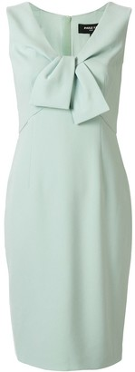 Paule Ka bow detail sleeveless dress