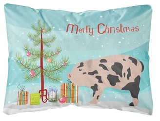 Mini A Ture The Holiday Aisle Magellan Mini Miniature Pig Christmas Indoor/Outdoor Throw Pillow The Holiday Aisle