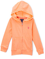 U.S. Polo Assn. Melon Zip-Up Hoodie - Toddler & Girls